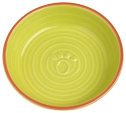 """PetRageous 1.5 Cups Key West Embossed Paw Saucer, 5.75"""", Lim"""