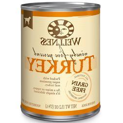 WELLNESS 13.2 OZ CAN 95% TURKEY WET DOG FOOD GRAIN FREE CANN