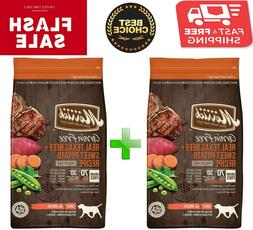 2 bags x Merrick Grain-Free Real Texas Beef & Sweet Potato D