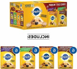 24 Pouch Pedigree Choice Cuts in Gravy Adult Wet Dog Food Va