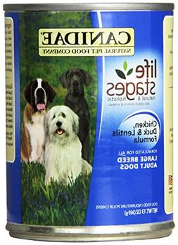 CANIDAE 404180 12-Pack Large Breed Adult Dogs Duck and Lenti