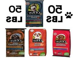 50 LBS Ol' Roy Dog Food 2 Flavors Pet Dry Complete Nutrition