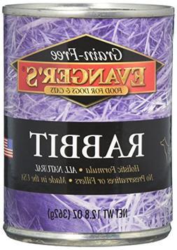 EVANGER'S 776255 24-Pack Grain Free 100-Percent Rabbit for D