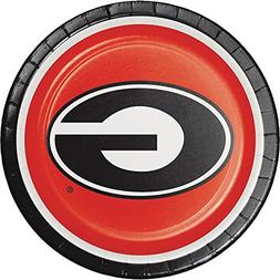 8-Count Round Paper Dinner Plates, Georgia Bulldogs
