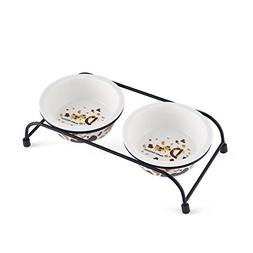 Be Good Pet Double Diner Feeder with Sturdy Non-Skid Elevate