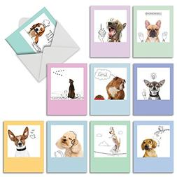 Dogs & Doodles All Occasion Note Cards  - Hilarious Blank Gr