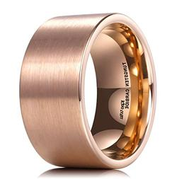 King Will GLORY 12mm Rose Gold Tungsten Carbide Wedding Ring