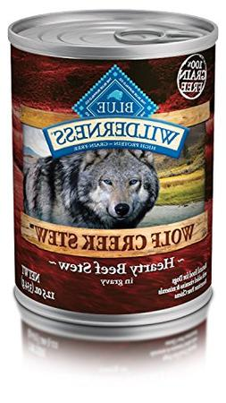 Pack of 12,12.5 OZ, Protein-Rich, Grain Free Wolf Creek Beef