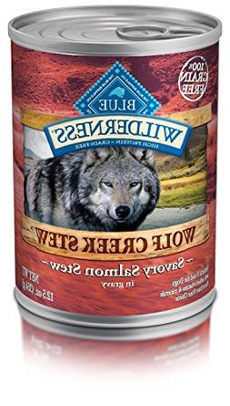 Pack of 12,12.5 OZ, Protein-Rich, Grain Free Wolf Creek Salm
