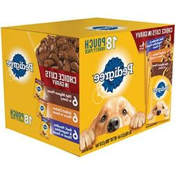 Pedigree Choice Cuts in Gravy 18 Pouch Variety Pack, Flavor