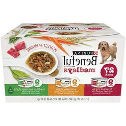 Purina Beneful Medleys Variety Wet Dog Food Cans, Pack of 27