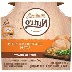 Nutro Adult Cuts In Gravy Wet Dog Food Trays, Chicken,3.5 oz