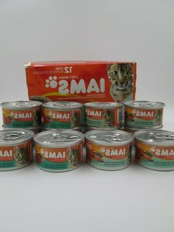 Iams Adult Wet Cat Food - Salmon or Tuna in Sauce  12 cans