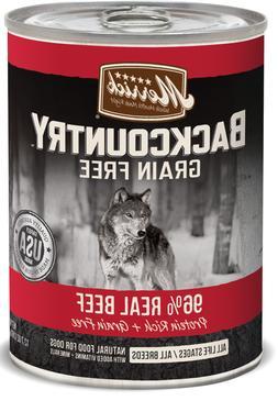 Merrick Backcountry Grain Free 96% Beef Recipe Canned Dog Fo