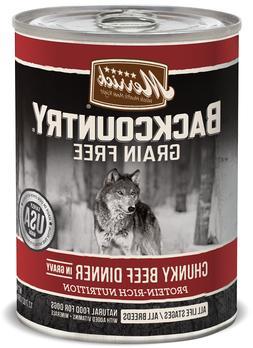 Merrick Backcountry Grain Free Chunky Beef Canned Dog Food