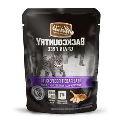 Merrick Backcountry Grain Free Real Rabbit Cuts Cat Food Pou