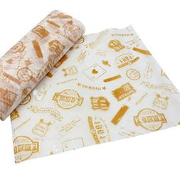 50 PCS Baking Parchment Oil-Proof Paper Hamburg Wrapper Cand