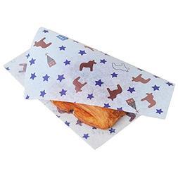 100 PCS Baking Parchment Sandwich Wraps Candy Wrapper Oil-Pr