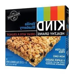 KIND Healthy Grains Bars, Vanilla Blueberry, Non GMO, Gluten