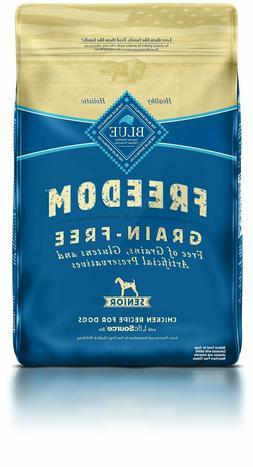 BLUE Freedom Senior Grain Free Chicken Dry Dog Food 24-lb