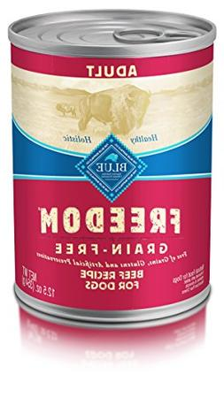 Blue Buffalo Freedom  Adult Dog Beef Dinner - Grain Free 12.