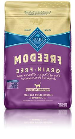 BLUE Freedom Mature Indoor Grain Free Chicken Dry Cat Food 1