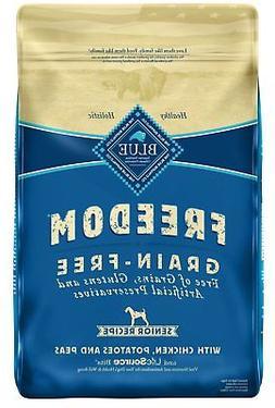 Blue Buffalo Freedom Grain Free Natural Senior Dry Dog Food,