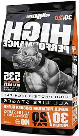 BULLY MAX 30/20 HIGH PERFORMANCE DOG FOOD - 15 LB. **AUTHORI