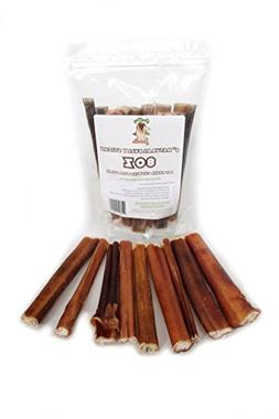 "100% Natural Bully Sticks -  6"" Dog Chews - Hand Inspected -"