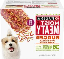 Purina Moist & Meaty Burger with Cheddar Cheese Wet Dog Food