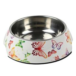 PANDA SUPERSTORE Butterfly Cute Dog Bowls Dog Dishes Pet Bow