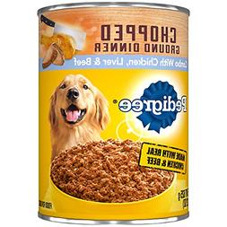 Pedigree Canned Dog Food 22 Oz Chicken Beef & Liver Pack of