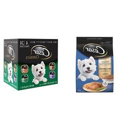 Cesar Small Dog Food Variety Pack with 12 lb bag of Rotisser