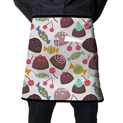 Cherry Fruit Brigadier Truffle Candy Sweet Sugar Waist Apron
