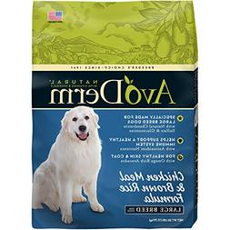 AvoDerm Natural Large Breed Dry Dog Food, Chicken Meal & Bro