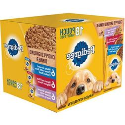 Pedigree Chopped Ground Dinner 18 Pouch variety Pack, Mignon