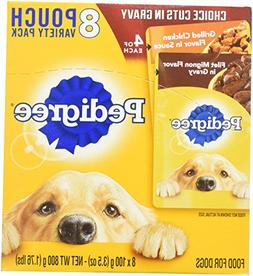 Pedigree Chopped Ground Dinner 8 Pouches Variety Pack 4-Baco