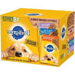 Pedigree Chopped Ground Dinner Adult Canned Wet Dog Food Var