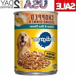 Pedigree Chopped Ground Dinner Adult Wet Canned Dog Food Chi