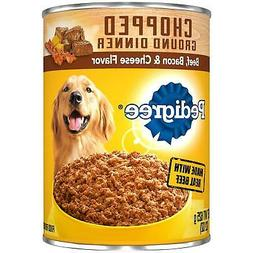 Pedigree Chopped Ground Dinner Beef, Bacon & Cheese Flavor A