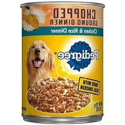 Pedigree Chopped Ground Dinner Chicken Rice Dinner Adult Can