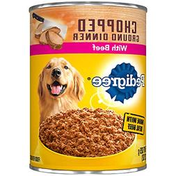 Pedigree Chopped Ground Dinner With Beef Adult Canned Wet Do