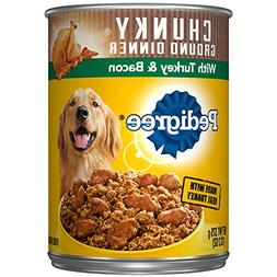 Pedigree Chunky Ground Dinner with Turkey & Bacon Adult Cann