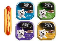 Cesar Classic Dog Food 4 Flavor 8 Can with Toy Bundle:  Lamb