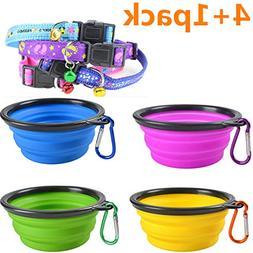 Widhbndxsf Collapsible Pet Bowl , Food Grade Silicone, BPA F