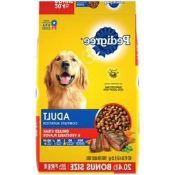 Pedigree Complete Nutrition Adult Dry Dog Food Steak & Veget