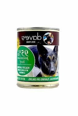 Dave's Pet Food 95% Premium Meats Canned Dog Food Beef Recip