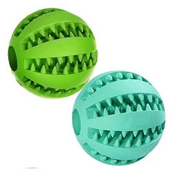TOOGOO Dog Ball Toys for Pet Tooth Cleaning/Chewing/Playing,