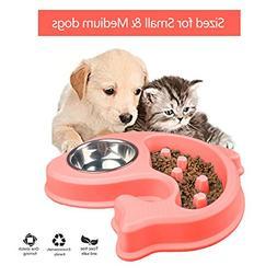 Dog Bowl Slow Feeder and Water Bowl Anti-Slip Bloating stop