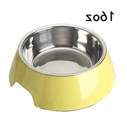 Mainstreet Dog Bowls Stainless Steel and Bamboo Water and Fo
